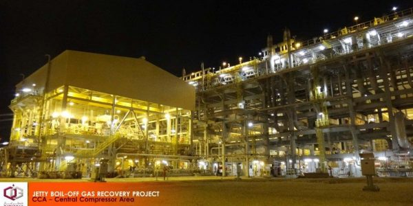 Qatargas Jetty Boil Off Gas Project at Pipe Rack Area CCA