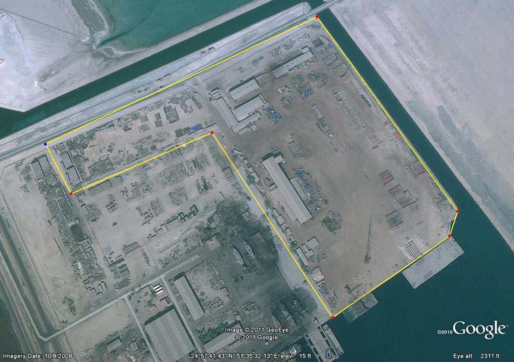 Messaied Marine Fabrication Yard map
