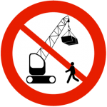Do not walk under a suspended load